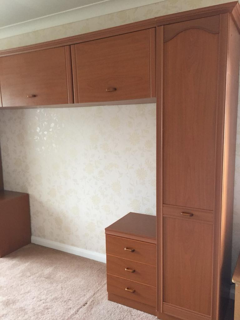 Over Bed Wardrobes With Bedside Cabinets And Drawers