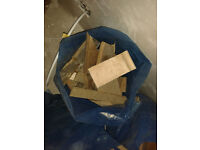 Free fire wood, 3 rubble bags full of offcut flooring, joists and offcut scrap wood