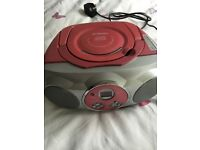 CD player - pink - Curtis digital CD player with radio system - ideal Xmas gift