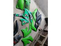 Motocross bike plastics + exhaust kawasaki kxf honda crf 250