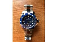 Used Swiss ROLEX submariner blue face