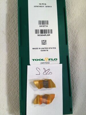 10 New Tool-flo Ng 3094r Top Notch Grooving Carbide Inserts. Grade Gp3r. S86
