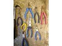 Tools pliers,snips,Hammer & crowbar