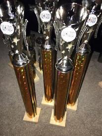 Gold trophies / awards / trophy set