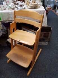 Wooden Toddlers High Seat