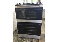 ZANUSSI Gas Cooker - Stainless Steel & Black