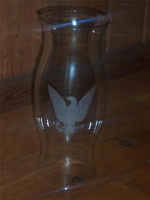 Large Glass Chimney with Colonial American Eagle ()