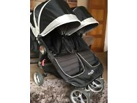 City Mini by Baby Jogger Double Pram with Carrycot 4 months old excellent condition