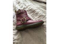 Dr Martens buckle boots size 5