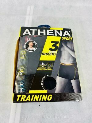 ATHENA Herren Badehose (3er Pack) Größe XL Schwarz Boxershort