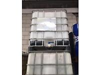 IBC STORAGE CONTAINER TANK 1000lt Water/Oil