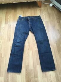 Used Mens Blue Denim Levi 501 Jeans 👖