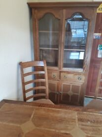 Black walnut solid wood table 6 chairs