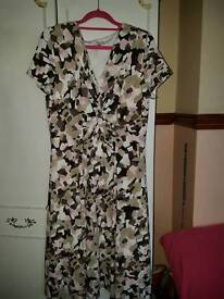 Principles slinky fit and flare dress size 12/14.