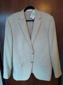 Men's marks and spencer cream jacket with tags, never worn size 46
