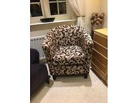 Fabric tub chair for sale - in perfect condition - £75 o.n.o