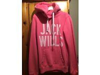 Jack Wills Hoodie size 8 Pink.