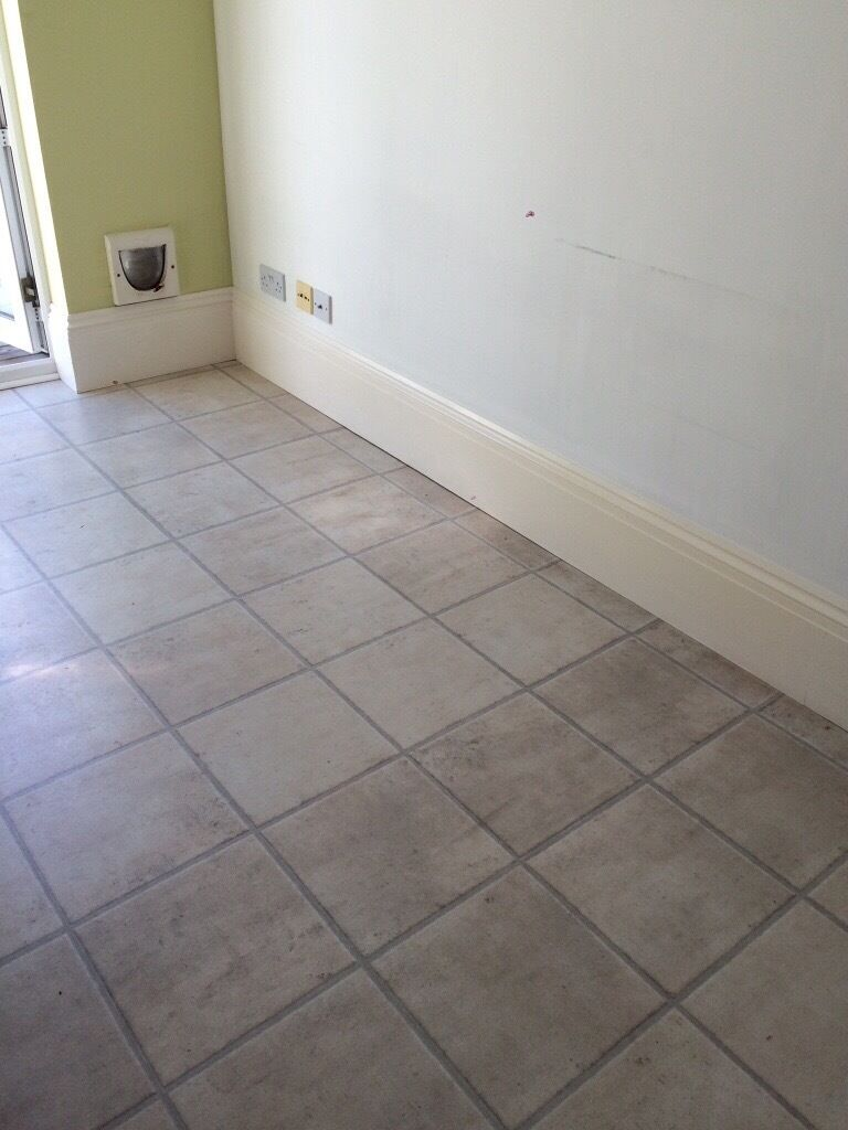 Tile Effect Laminate Flooring 21 M Squared Waterproof For Kitchens And Bathrooms In Newquay