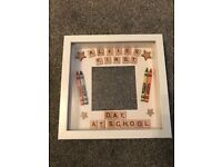 🖍📚 PERSONALISED my first day at school/nursery photo frame 📚🖍