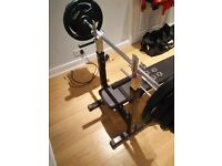 Selling 70kg weights + bench