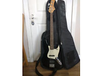 Westfield beginner's bass guitar with case and tuner, £90, collection only, DRYLAW Edinburgh