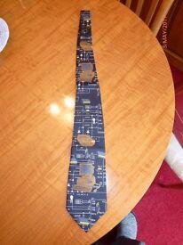 Retro Computer/Elecronics Tie.