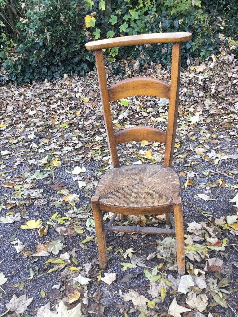 Vintage Chapel Chair - Hall Rush Seat Chair - High Back - Rustic country chic - Annie Sloan Project