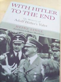 Hitler book by Heinz Linge