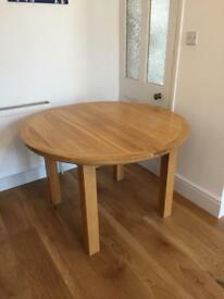 Real oak extending table
