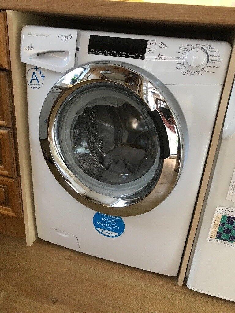 Candy grand o'vita washing machine 9kg 1600 rpm- white