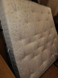 Super kind size bed + bed frame for sale