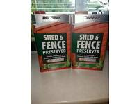 Green Ronseal shed and fence preserver