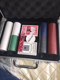 Casino set in metal tin