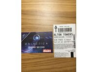 2 x Alton Towers tickets valid Friday 22nd July