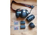 CANON EOS 7D DIGITAL SLR CAMERA + 2 LENSES, 2 CF MEMORY CARDS AND SPARE BATTERY