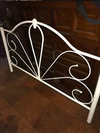 Metal Bed Frame in cream