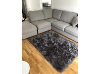 Right Hand Grey Forte Corner Sofa