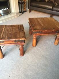 Indian Pine Coffee Tables x2