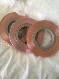 Flat copper induction loop hearing tape reels rolls & Ampetronic Induction tape