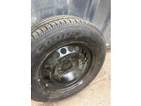 Mercedes spare wheel and tyre