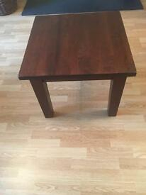 Dark wood side table (from archibalds)