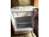 Built-under integrated fridge