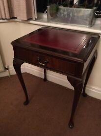 Mahogany side table/lamp table