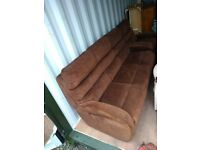 Used, CAN DELIVER - LA-Z-BOY 3-SEATER SOFA + ELECTRIC RECLINER ARMCHAIR IN VERY GOOD CONDITION for sale  York, North Yorkshire