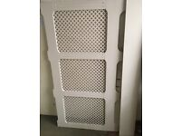 """White Radiator cover 66"""" x 36"""" approx. Good condition"""