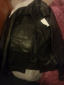 Moda Paola new unworn Leather zip up coat jacket Grace wales bonner black hedi slimane vetements