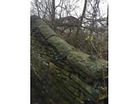 Reclaimed stone coping approx 50m