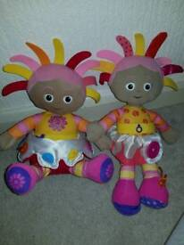 In the night garden 2 x Upsy Daisy soft toy musical