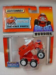 2011 MATCHBOX BIG RIG Buddies Smokey The Fire Truck Red ~~Hard to FInd