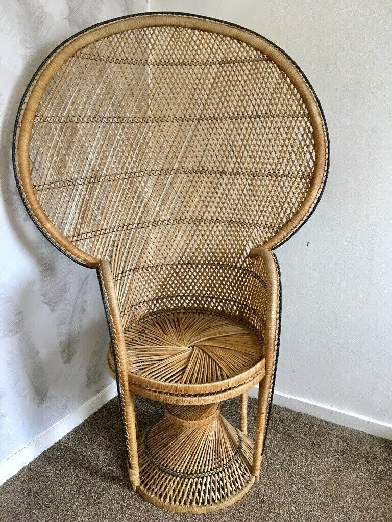 Amazing Vintage Mid Century Wicker And Rattan Peacock Chair In Didsbury Manchester Gumtree Gmtry Best Dining Table And Chair Ideas Images Gmtryco